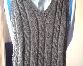 READY TO SHIP! Wool Hand Made Vest 8-10 yr old