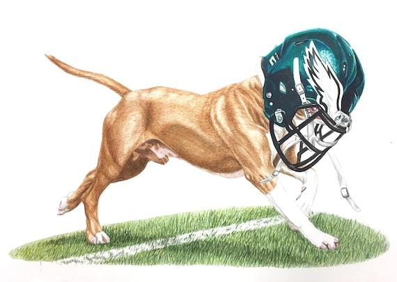 "Philadelphia Eagles Underdog 12"" x 18"" Print of Original Watercolor Painting"