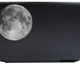 Moon Vinyl Laptop Decal or Automotive Art FREE SHIPPING notebook art night sky moon sticker moon phases full moon lunar phase
