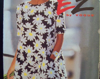 Ultra Easy EZ by Vogue Pattern 8280 A-Line, Tent Dress Uncut Sizes 8-10-12