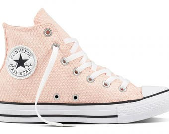 Pink Converse Wedding High Top Snake skin design Glass Slippers w/ Swarovski Crystal Rhinestone Candy Chuck Taylor All Star Sneakers Shoes