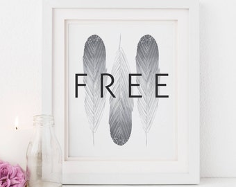 Free Feathers Print, Boho Illustration, Scripture, Illustrated Faith Art, Scripture Print for Her Bible Journaling Gift Bossy Lady Digital