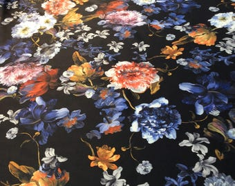 Printed fabric, multicolor material,material, fabric,dress fabric