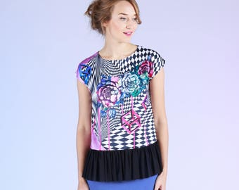 Illusion - top with frill