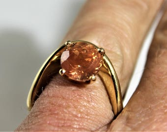 Oregon Sunstone gold ring