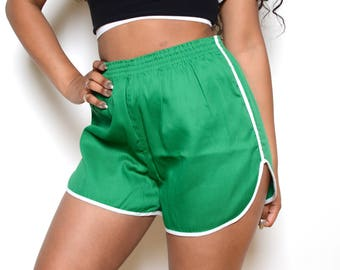 Deadstock 70's High Waisted Gym Shorts / Sprinters Sz M/L
