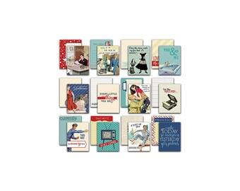 FIFTIES CRAFT CARDS, Fifties Journaling Cards, 1950s Embellishments, 1950s Journaling Cards, Fifties Embellishments, Craft Cards, Fifties