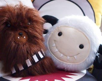 "Star Wars Inspired Chewbacca/Wookie Plush Cushion/Throw Pillow 30cm x 18cm (12 x 7"")"