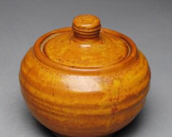 Covered Sugar Bowl Jam Jar  Lidded Condiment Jar G73