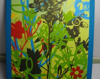Calypso Blooms on Blue 7-Card Box