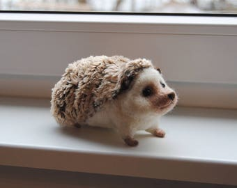 Needle Felted Hedgehog, Handmade Animal, Pet Sculpture - made to order