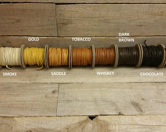 "Deerskin Deer Leather Lace Spool Roll 1/8"" x 50 FT Lacing Cord String Craft F-2"
