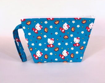 Blue Hello Kitty Make Up Bag - Accessory - Cosmetic Bag