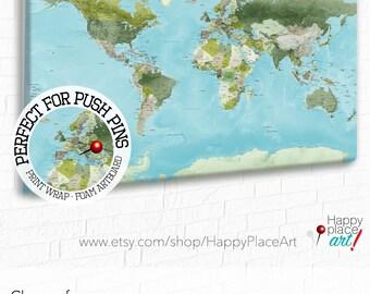 Pin world map Etsy
