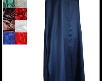 Navy Blue Shimmer Satin Cloak lined with Shimmer Satin. Ideal for LARP LRP Medieval Cosplay Costume. Made especially for you. NEW!