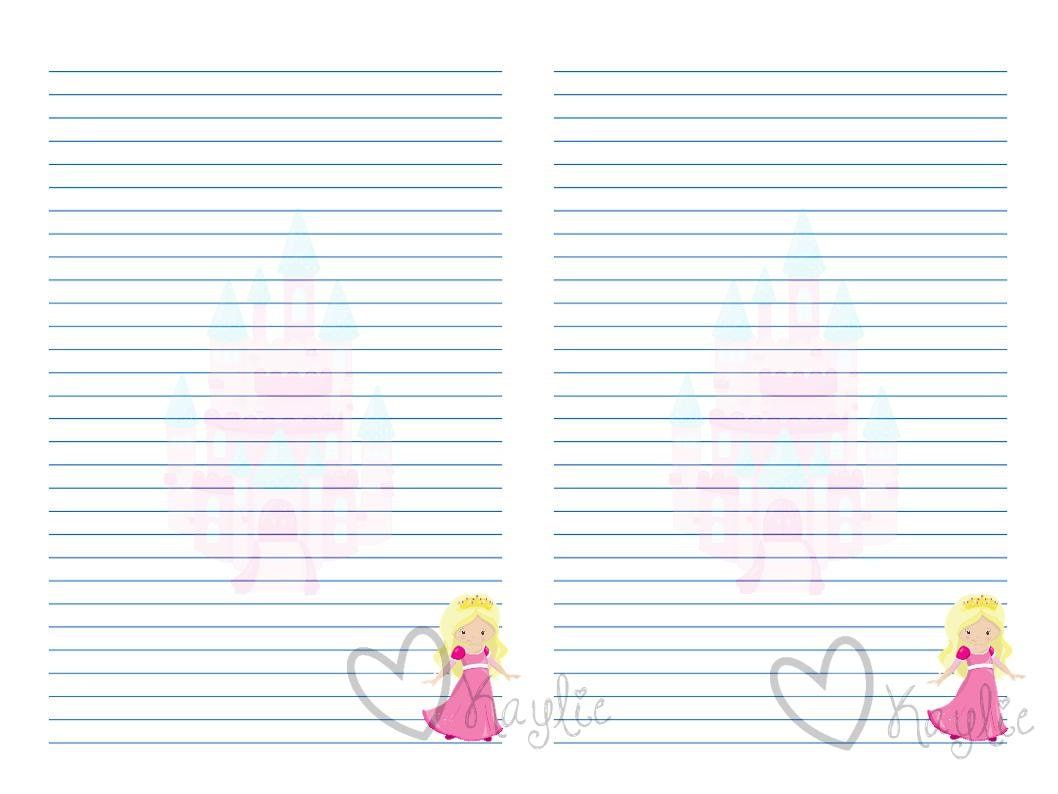 Princess Stationery Printable Jpg 1058x794