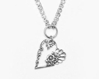 "Spoon Necklace: ""Louise Heart"" by Silver Spoon Jewelry"