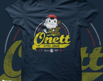 Onett Little League - earthbound Ness t shirt