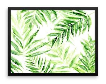 Palm Leaf Printable Wall Art, palm leaf print