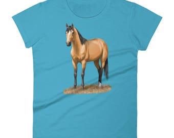 Beautiful Buckskin Quarter Horse Women's short sleeve t-shirt