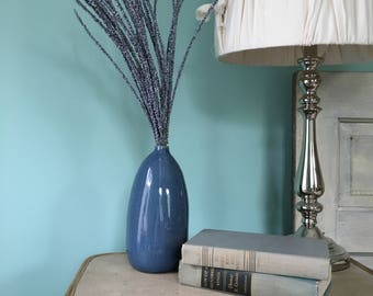 Denim Blue Vase with Purple Filler