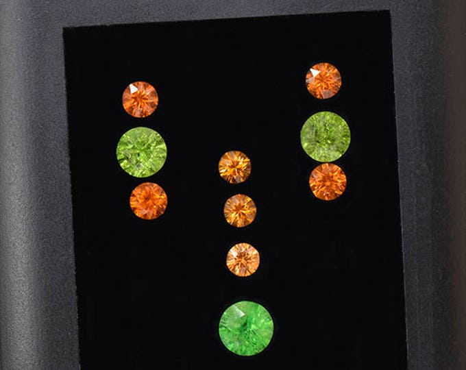 Stunning Grossular and Spessartine Garnet Gemstone Set 6.73 tcw.