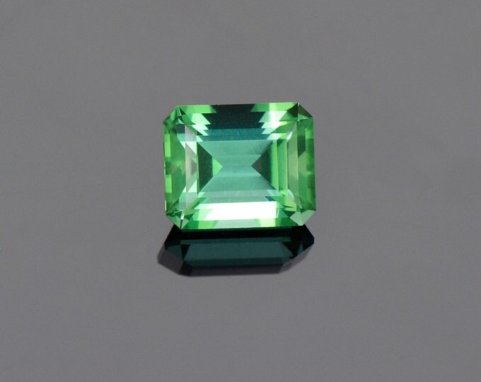 FLASH SALE Exquisite Green Blue Tourmaline Gemstone from Namibia, 2.32 cts, 8.2 x 6.7 mm, Step Emerald Shape