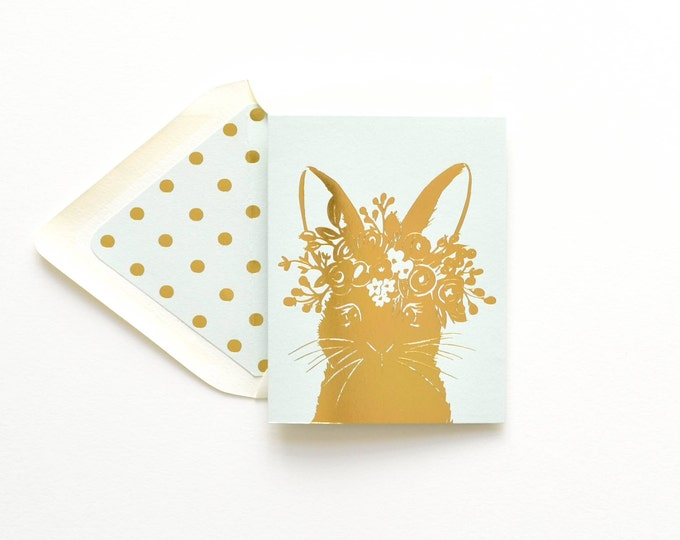 Our signature Rabbit in Gold foil
