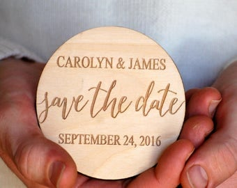Calligraphy Save the Date, Save the Date Wedding, Modern Save the Date, Save the Date Magnet, Wooden Save the Date, Simple Save the Date
