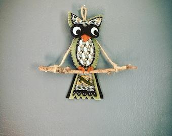 Hand Sewn Felt Owl Ornament