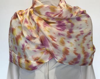 Pole dyed infinity scarf