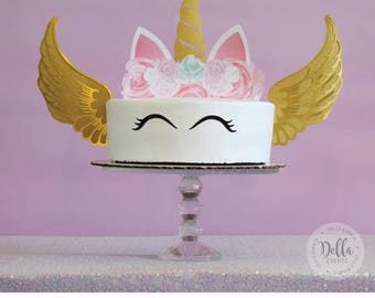Unicorn Cake Topper, Unicorn, Unicorn Birthday, Unicorn Party, Unicorn Cake Topper, Unicorn cake, Cupcake, Unicorn Decoration, Gold