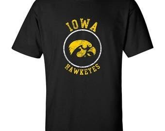 Iowa Hawkeyes Distressed Circle Logo T-Shirt