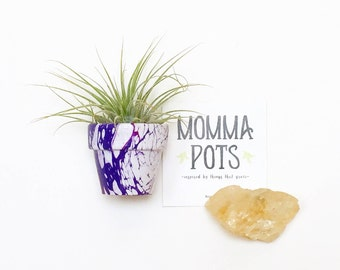 Mini Pot Magnet Purple
