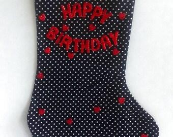 Hearts Birthday Stocking