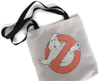 Ghostbusters Bag • Tshirt Tote Bag • Ghostbusters Gift • Upcycled Purse • Ghostbusters Tee Shirt Bag
