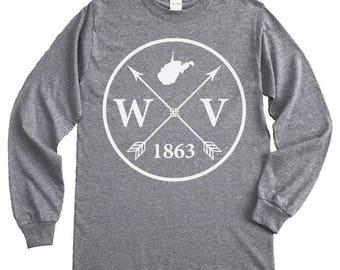 Homeland Tees West Virginia Arrow Long Sleeve Shirt