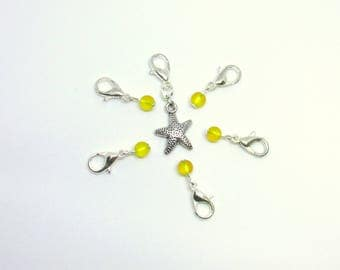 Crochet Stitch Markers, Removable Stitch Markers, Yellow Stitch Markers, Snagless Stitch Markers, Stitch Marker Set, Locking Stitch Markers