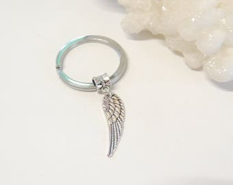Angel Wing Keychain, Angel Wing Key Chain, Key Ring, Guardian Angel Gift, Wing Key Chains, Unisex Gifts