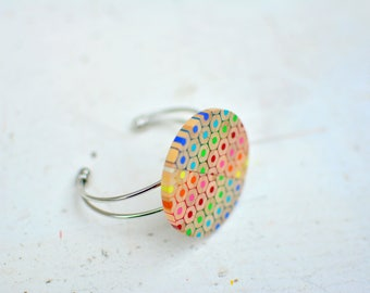 Colored pencil rainbow bracelet