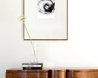 Wind, nature art print, prints, abstract ink print, minimal art print, circle print, minimal abstract wall art, black and white print, art