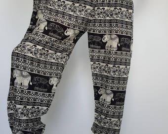 SM0078 Thai Genie Pants Comfy Trouser, Gypsy Pants Rayon Pants,Aladdin Pants Maxi Pants Boho Pants
