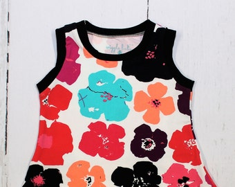 Tank Top, Avant Garde Bloom Tank Top, Girls Knit top, Vanguarden Kekmo, Avantgarde Floral Tank