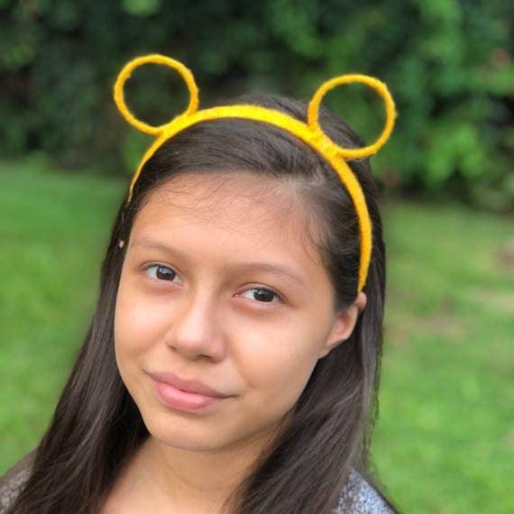 Orange Ears Headband, Bear Ears Headband, Cat Ears Headband, Orange Headband, Bear Headband, Round Ears, Cat Headband, Animal Ear Headband
