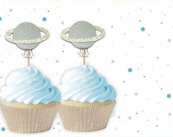 Planet Cupcake Toppers - Space Cupcake Toppers, Planet Cupcake Toppers, Space Birthday, Space Party, Rocket Party, Astronaut Birthday