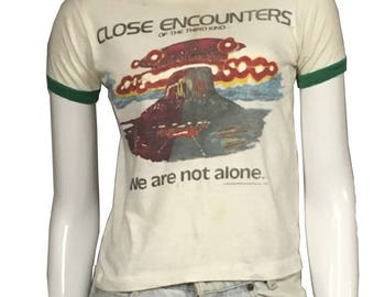 "1977 ""Close Encounters of the Third Kind"" Movie Ringer Tee"