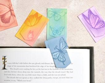 Butterfly Rainbow Mini Clip Bookmark Set, FREE UK SHIPPING Set of Five Handmade Artist Bookmarks Book Lover Bookworm Gift stocking stuffer
