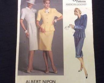 Vogue Pattern American Designer Albert Nippon 1862 Sz 10