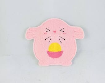 Chance Monster Finger Puppet - Finger Puppets - Quiet Toy - Christmas gift - Stocking Stuffer - Embroidered Felt Finger Puppet