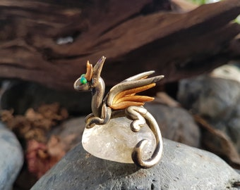 Golden Dragon with Citrine